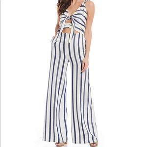 $200 The JetSet Diaries Jacquard Stripe Jumpsuit